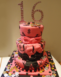Girls 16th Cake Wetherby