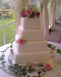 wedding cakes wetherby roses
